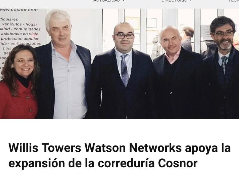 Willis Towers Watson Networks apoya la expansión de la correduría Cosnor
